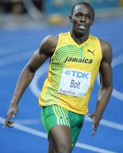 Usain Bolt im Wettkampf