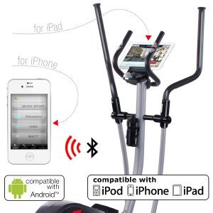 Sportstech CX610 Profi Crosstrainer Apps Android und iPhone