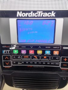 Crosstrainer Nordic Track Display