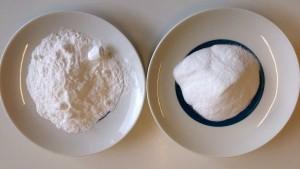 Creatin Monohydrat links und Creapure rechts