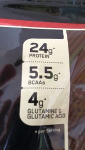 Hoher BCAA und Glutamin Anteil pro Portion
