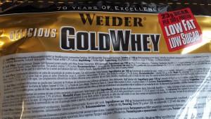 Die Zutaten im Weider Gold Whey