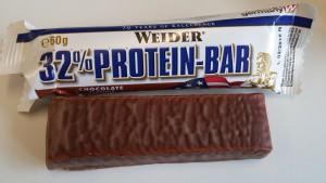 Weider 32% Protein Riegel Test
